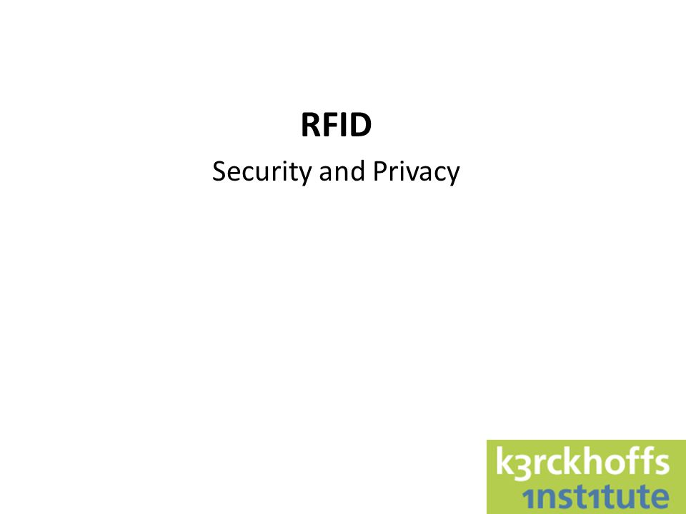 RFID Radio Frequency IDentification Warning: RFID tag can mean a lot of things