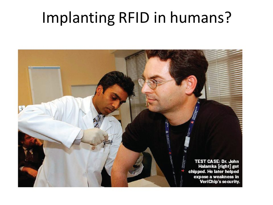 Implanting RFID in humans.