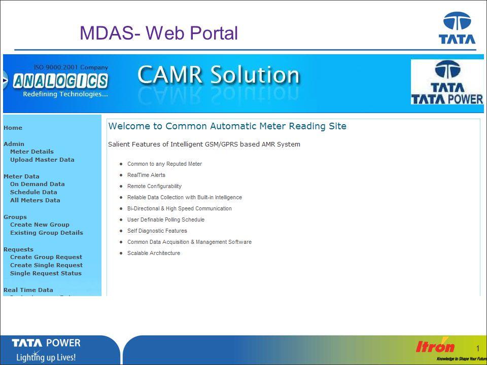 …Message Box ( Arial, Font size 18 Bold) 1 MDAS- Instantaneous Data