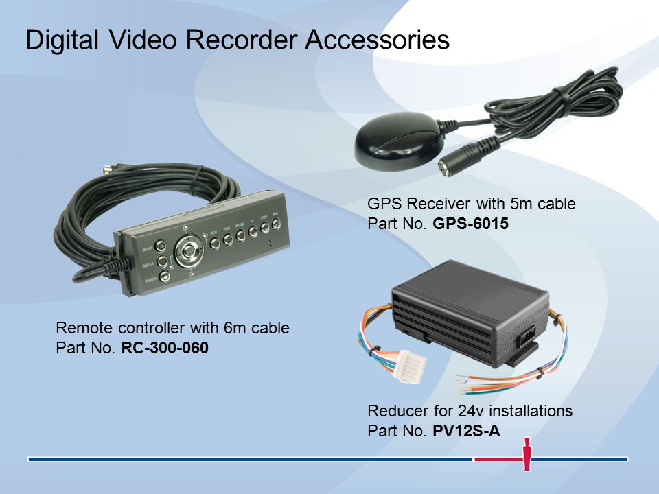 Digital Video Recorder Accessories GPS Receiver with 5m cable Part No.