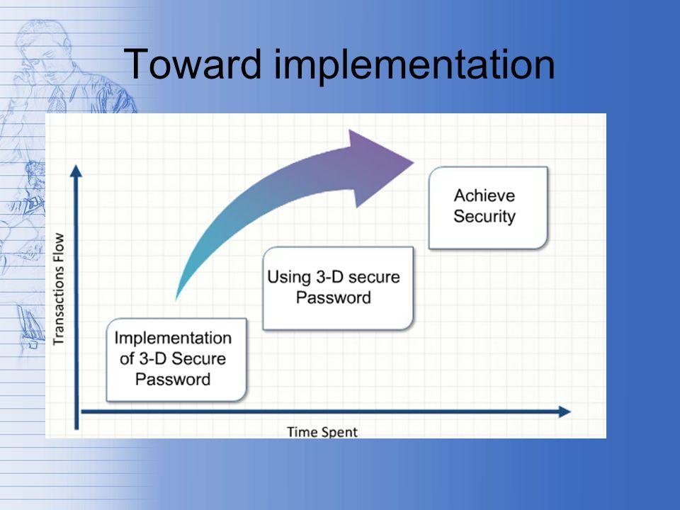 Toward implementation
