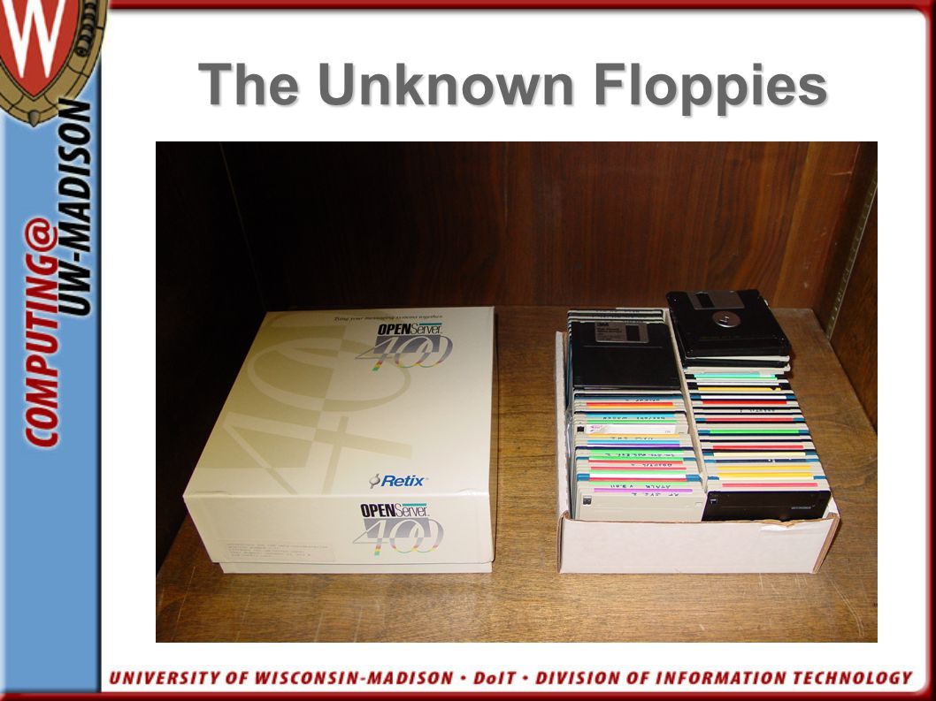 The Unknown Floppies Pic of floppies