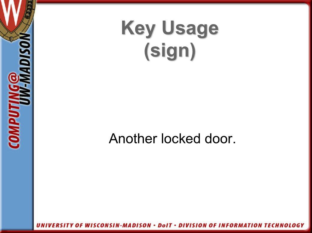 Another locked door.