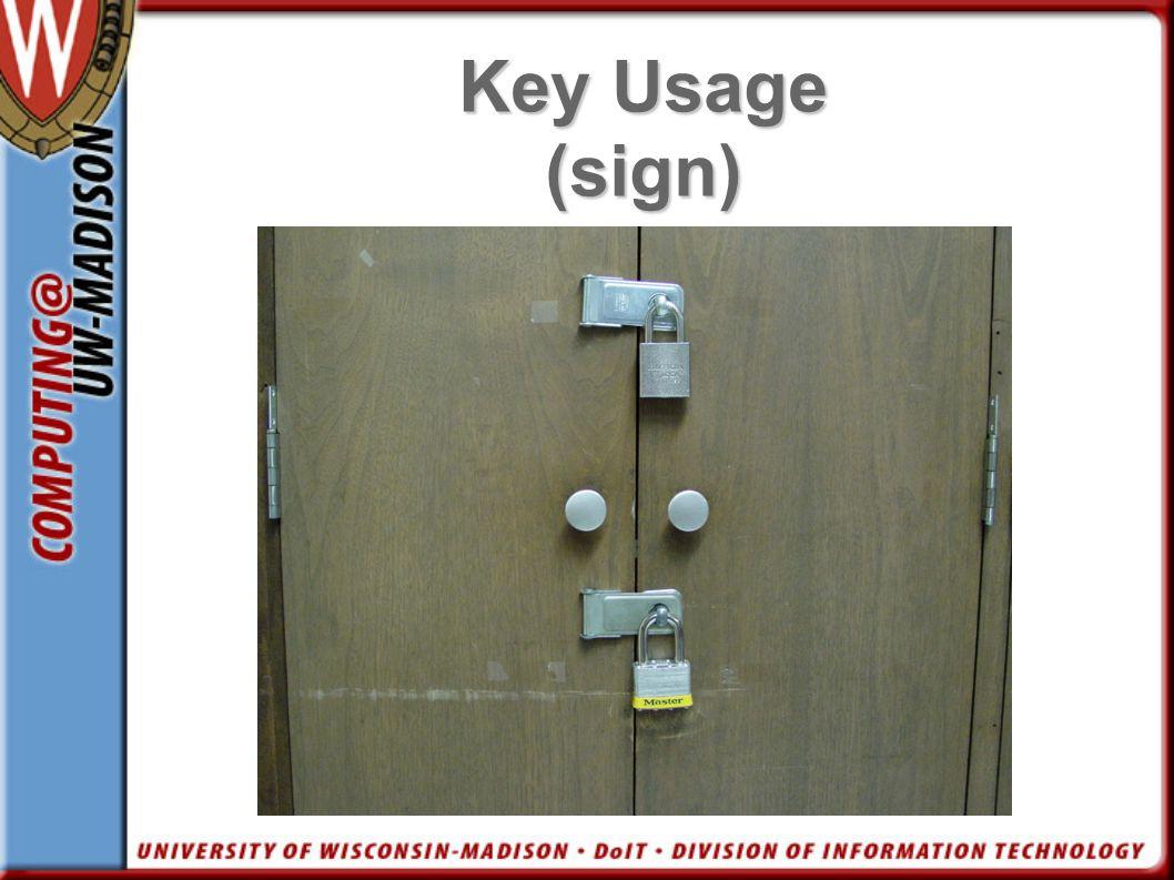 Key Usage (sign) Pic cabinet 2 locks