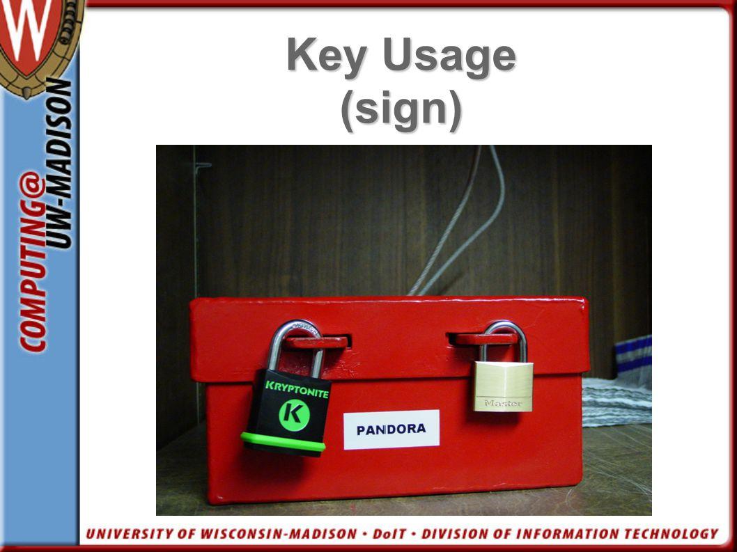 Key Usage (sign) Pic media box 2 locks