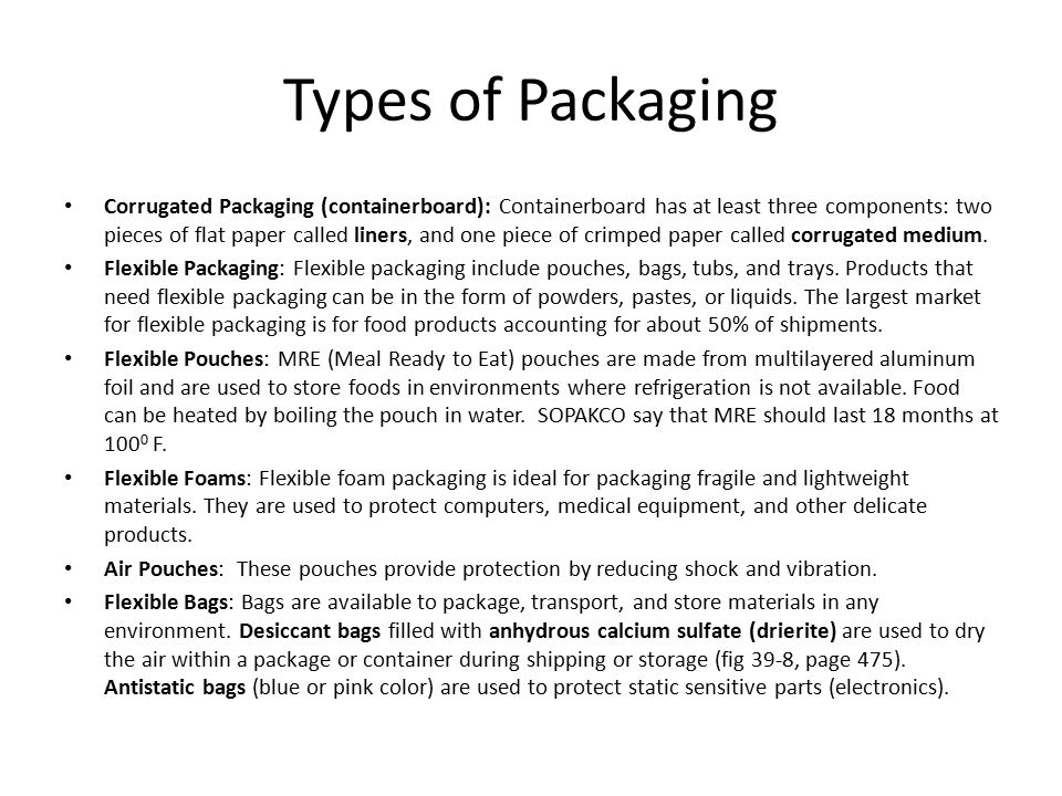 Aseptic Packaging Before a product can be stored in an aseptic package the product must undergo aseptic processing.