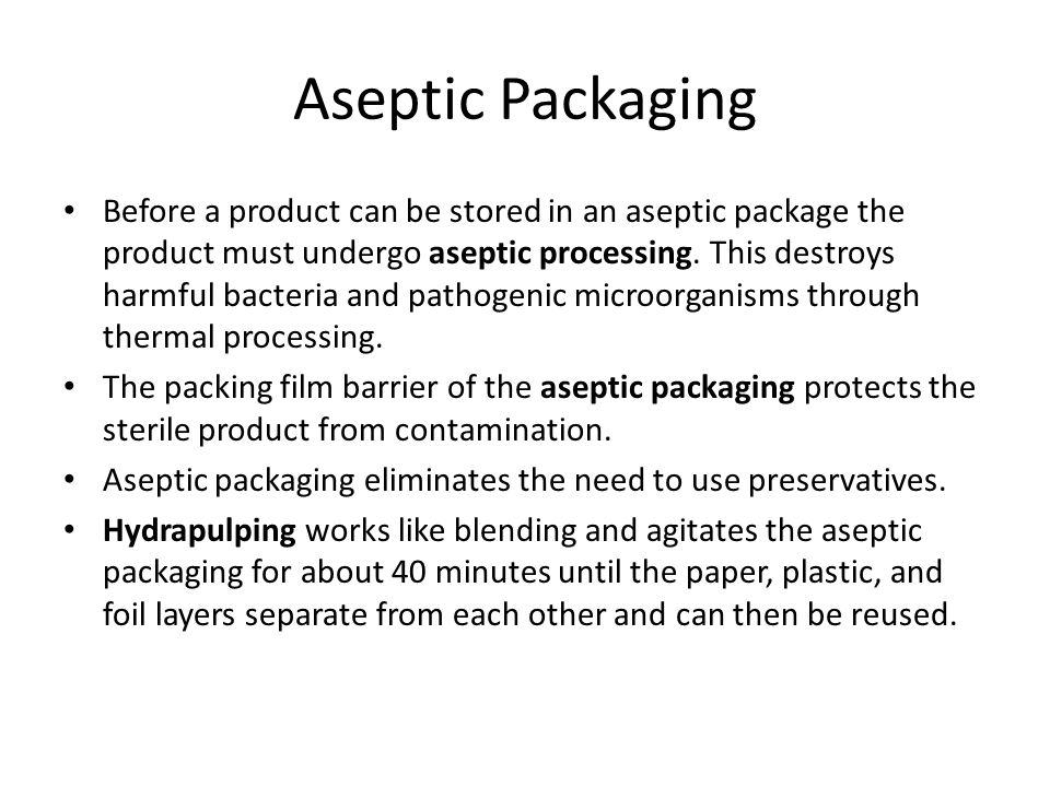 Food and Drug Packaging The FDA closely regulates how packaging is used and how well it performs in terms of preservation and storage of materials.