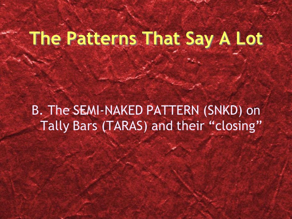 The Patterns That Say A Lot B.