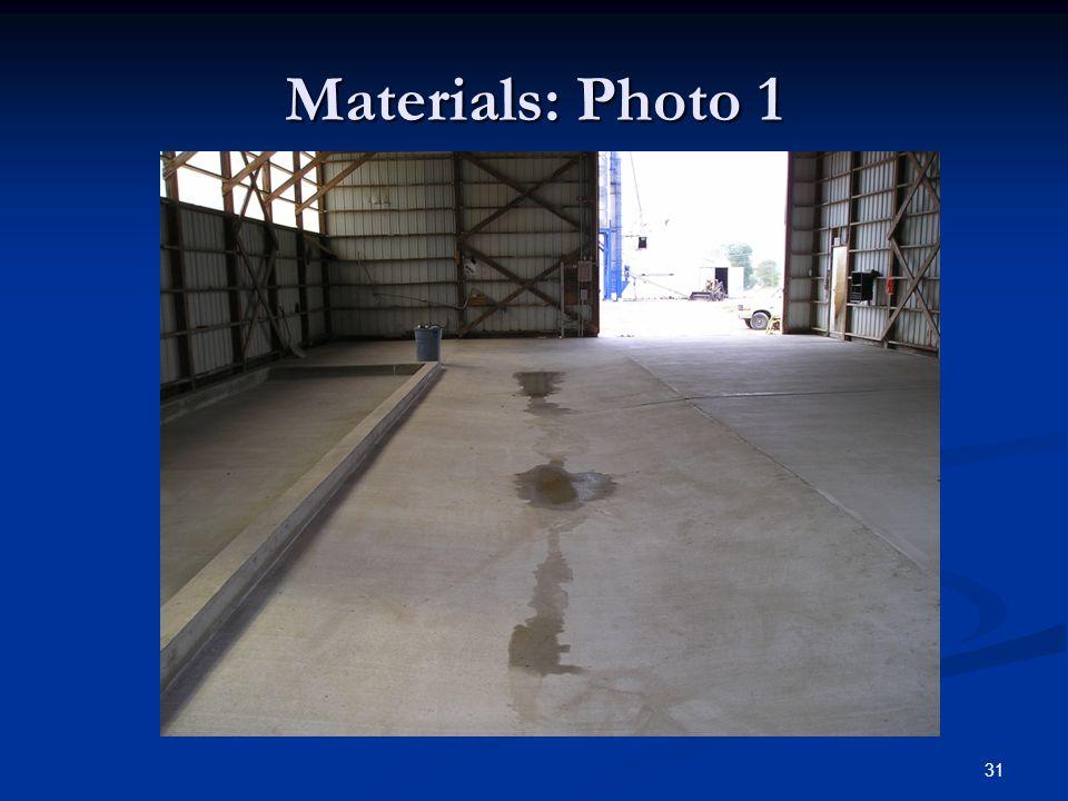 31 Materials: Photo 1