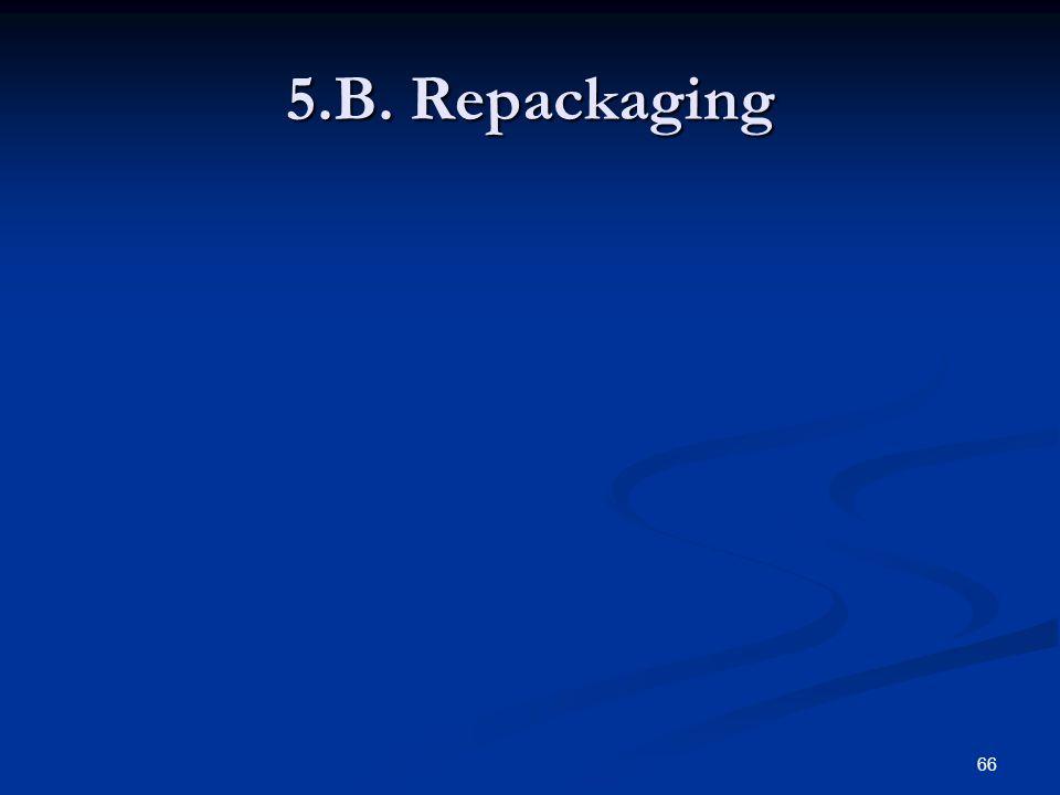 66 5.B. Repackaging