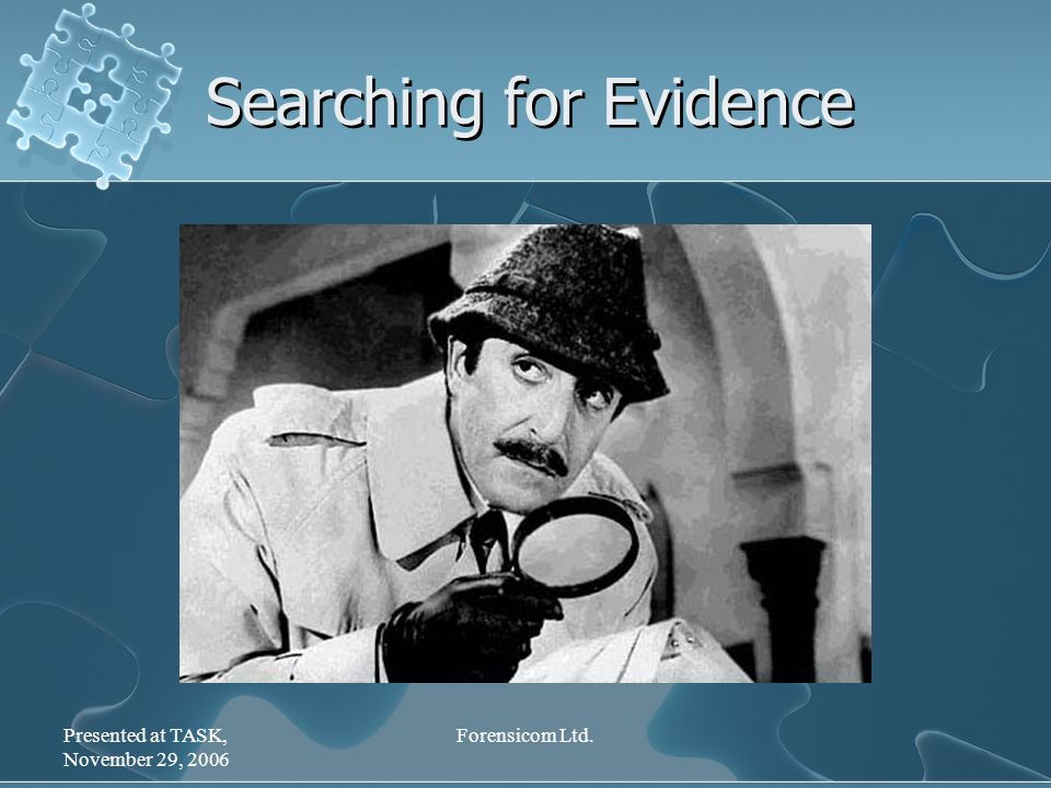 Presented at TASK, November 29, 2006 Forensicom Ltd. Searching for Evidence