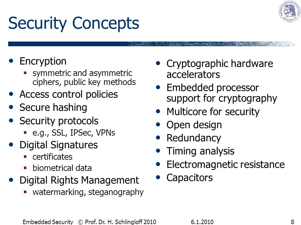 6.1.2010Embedded Security © Prof. Dr. H.