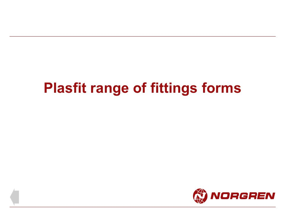 Plasfit range of fittings forms