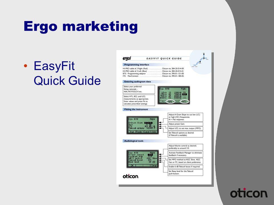 Ergo marketing EasyFit Quick Guide