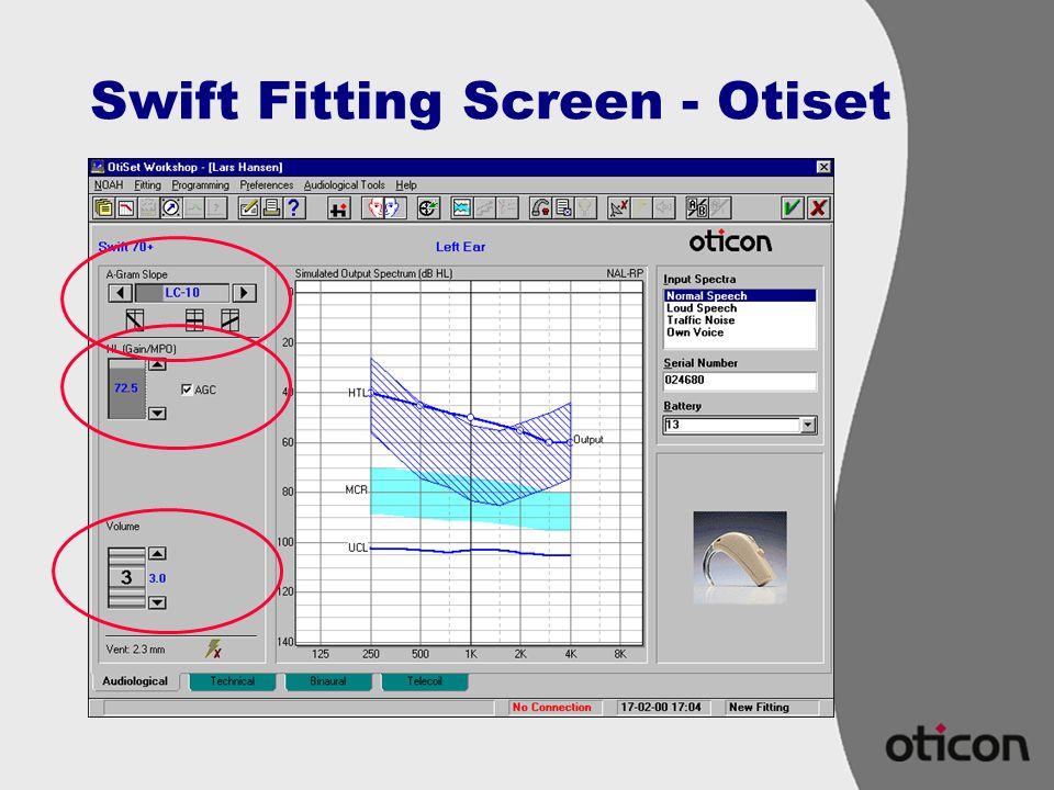 Swift Fitting Screen - Otiset
