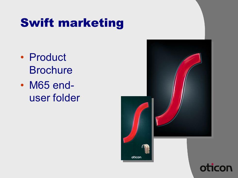 Swift marketing Product Brochure M65 end- user folder