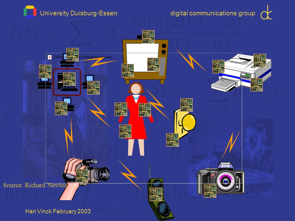University Duisburg-Essendigital communications group Han Vinck February 2003 Source: Richard Newton