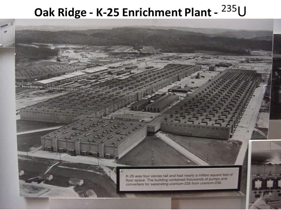 Oak Ridge - K-25 Enrichment Plant - 235 U
