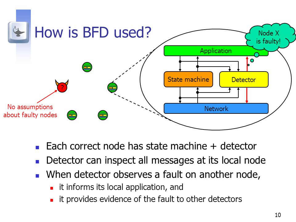 10 How is BFD used.