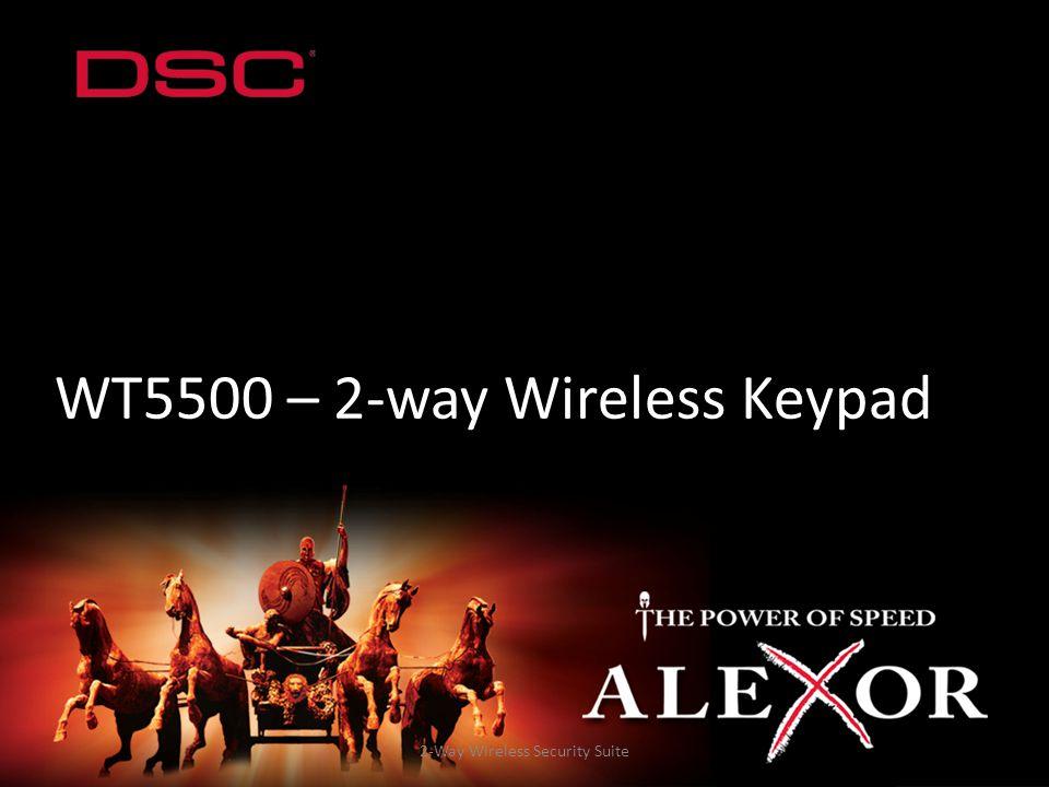 2-Way Wireless Security Suite WT5500 – 2-way Wireless Keypad