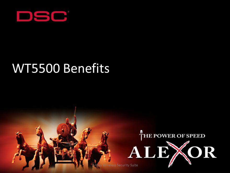 2-Way Wireless Security Suite WT5500 Benefits