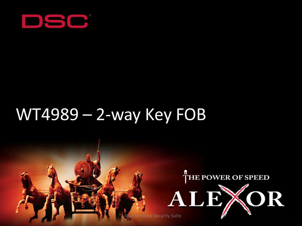 2-Way Wireless Security Suite WT4989 – 2-way Key FOB
