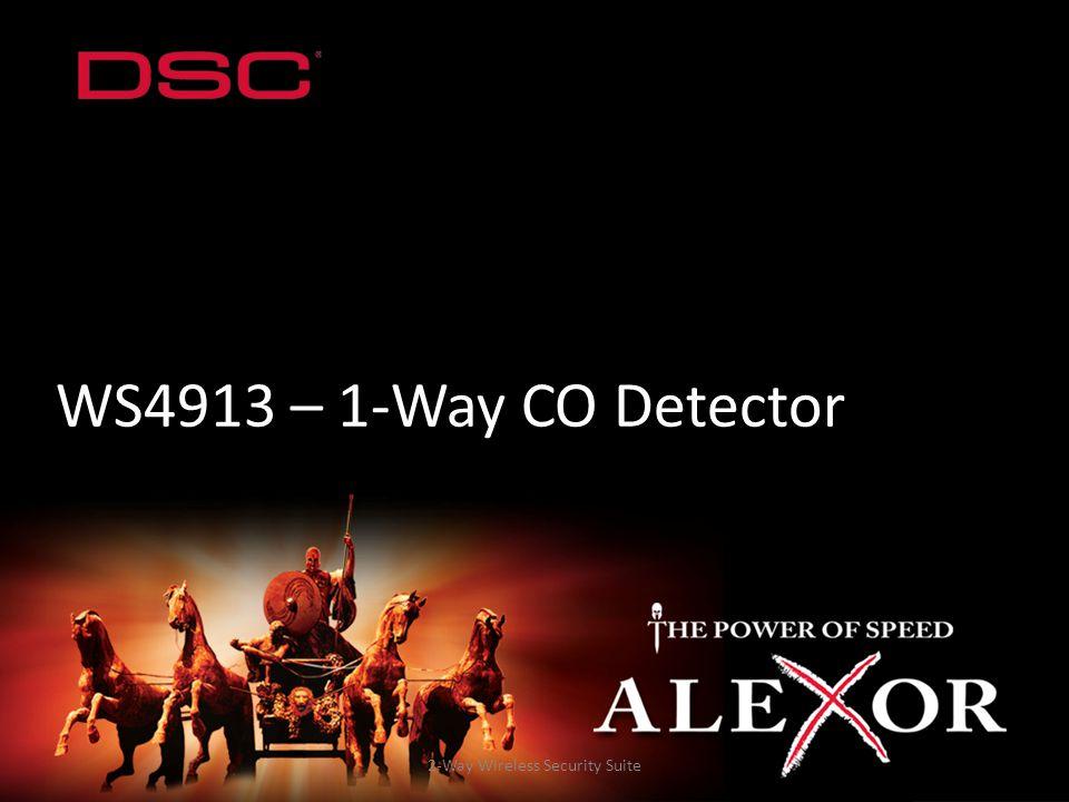 2-Way Wireless Security Suite WS4913 – 1-Way CO Detector