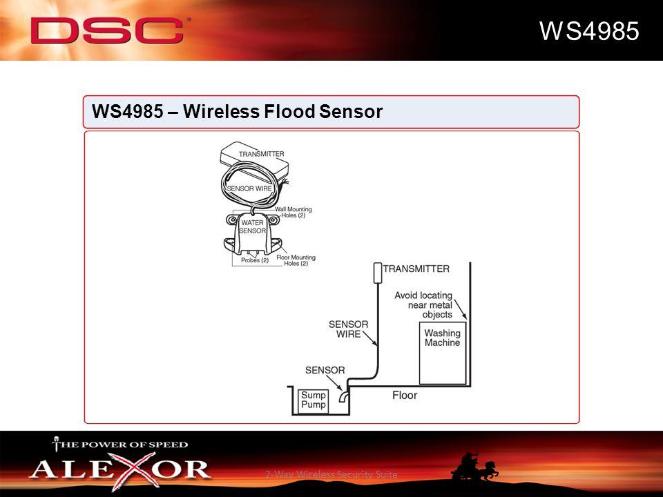 2-Way Wireless Security Suite WS4985 WS4985 – Wireless Flood Sensor