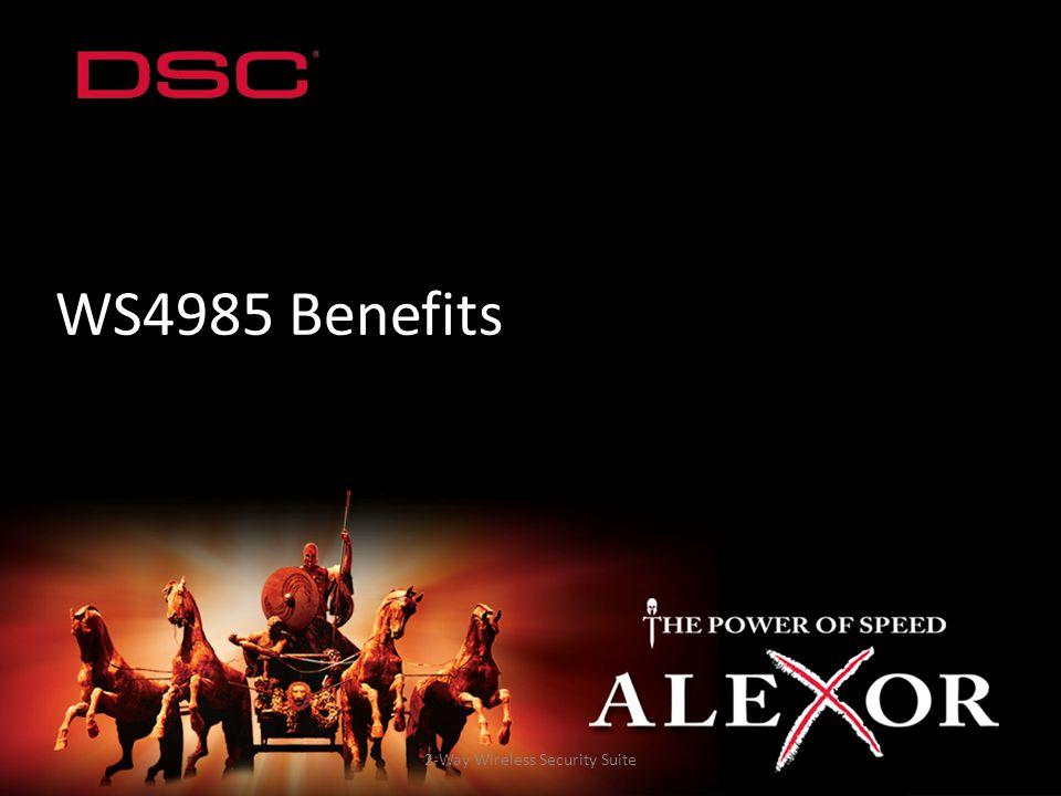 2-Way Wireless Security Suite WS4985 Benefits