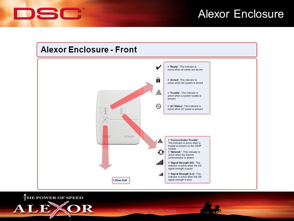 2-Way Wireless Security Suite Alexor Enclosure Alexor Enclosure - Front