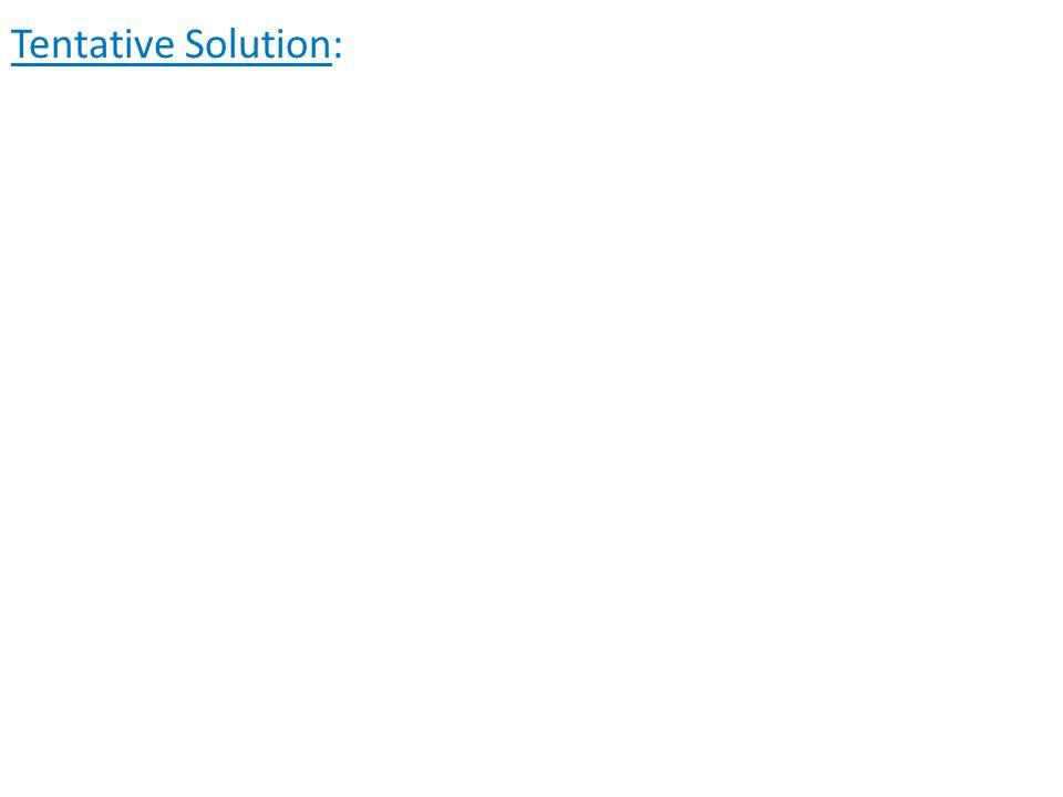 Tentative Solution: