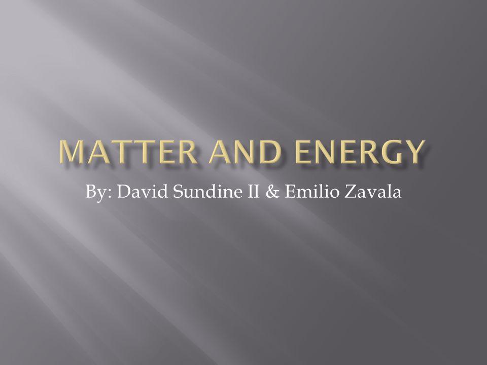 By: David Sundine II & Emilio Zavala