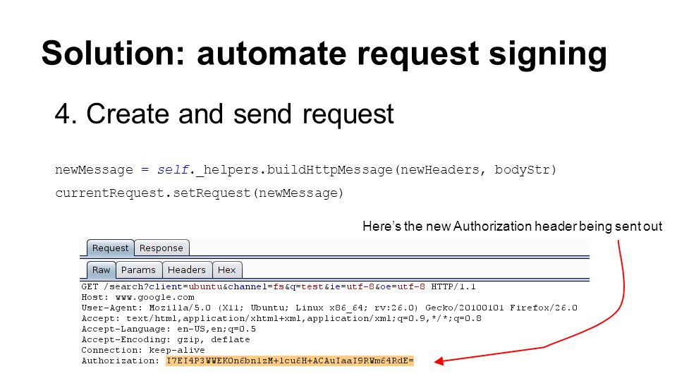 Solution: automate request signing 4.