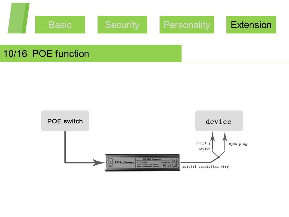 BasicSecurityPersonalityExtension 10/16 POE function
