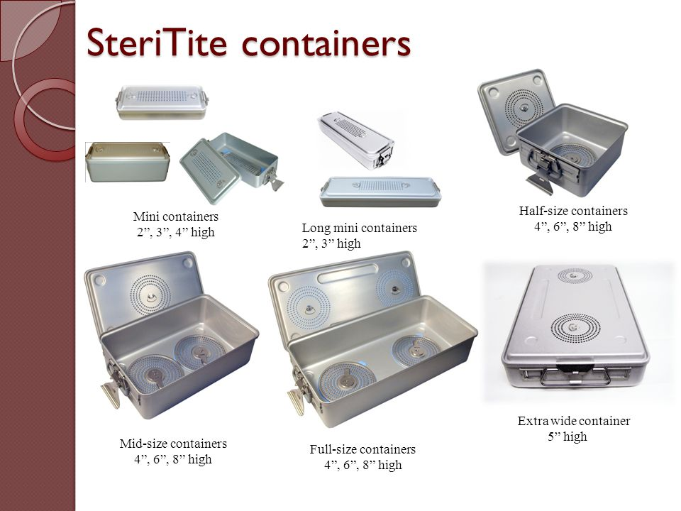 """Half-size containers 4"""", 6"""", 8"""" high Mini containers 2"""", 3"""", 4"""" high Full-size containers 4"""", 6"""", 8"""" high Mid-size containers 4"""", 6"""", 8"""" high Long min"""