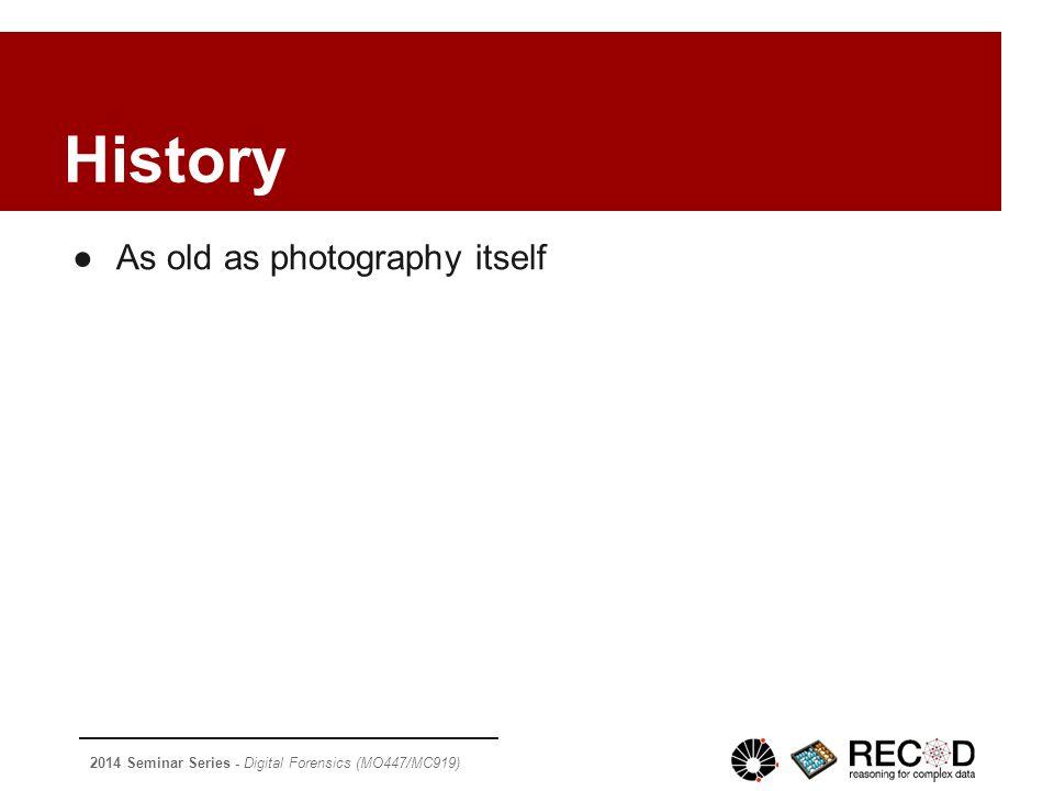 2014 Seminar Series - Digital Forensics (MO447/MC919) ➢ [Fourandsix/Hist] Photo Tampering throughout History , available at http://www.fourandsix.com/photo-tampering-history/, access on 30/10/2014Photo Tampering throughout History http://www.fourandsix.com/photo-tampering-history/ ➢ [eFarsas/Dilma] Fraude em urna eletrônica dá 400 votos para Dilma , available at http://www.e- farsas.com/fraude-em-urna-eletronica-da-400-votos-para-dilma.html, access on 30/10/2014http://www.e- farsas.com/fraude-em-urna-eletronica-da-400-votos-para-dilma.html ➢ [Wikipédia/JPEG] JPEG , available at http://en.wikipedia.org/wiki/JPEG, access on 31/10/2014http://en.wikipedia.org/wiki/JPEG ➢ [Wikipédia/CompArt] Compression artifact , available at http://www.wikipedia.org/wiki/Compression_artifact, access on 31/10/2014 http://www.wikipedia.org/wiki/Compression_artifact ➢ [Wikipédia/Bayer] Bayer filter , available at http://en.wikipedia.org/wiki/Bayer_filter, access on 31/10/2014http://en.wikipedia.org/wiki/Bayer_filter ➢ [Farid 2009a] Farid, H.