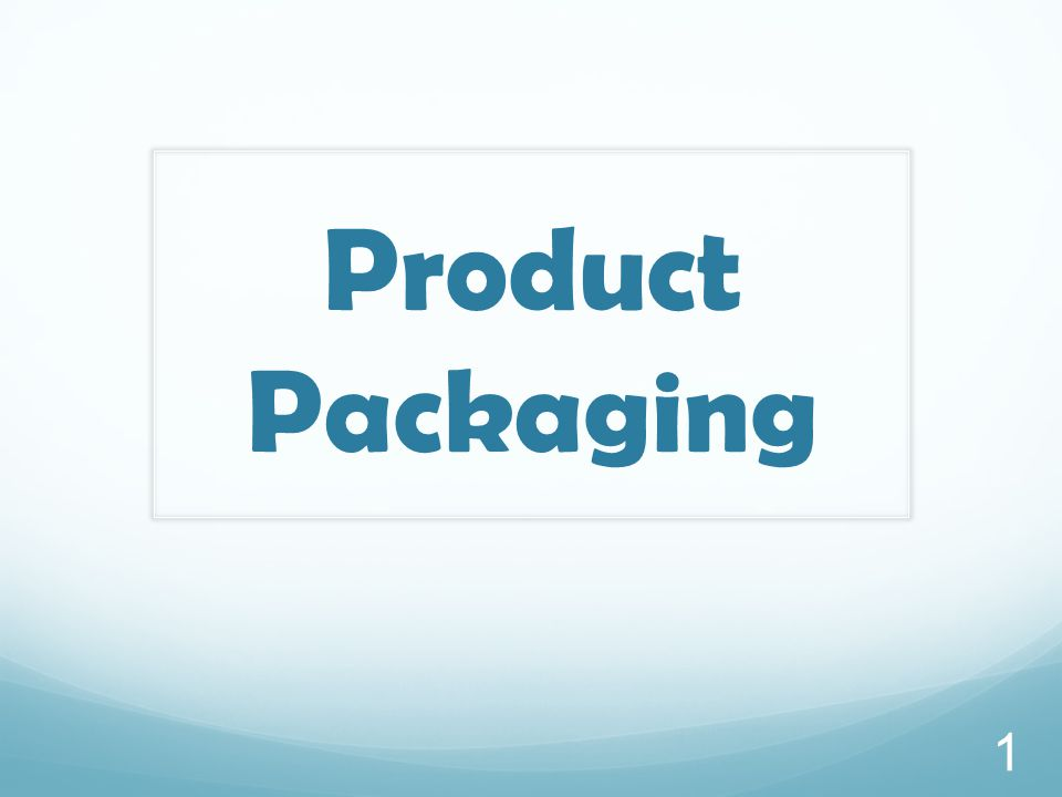 Product Packaging 1