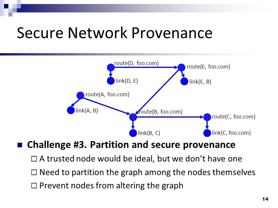 Secure Network Provenance Challenge #3.