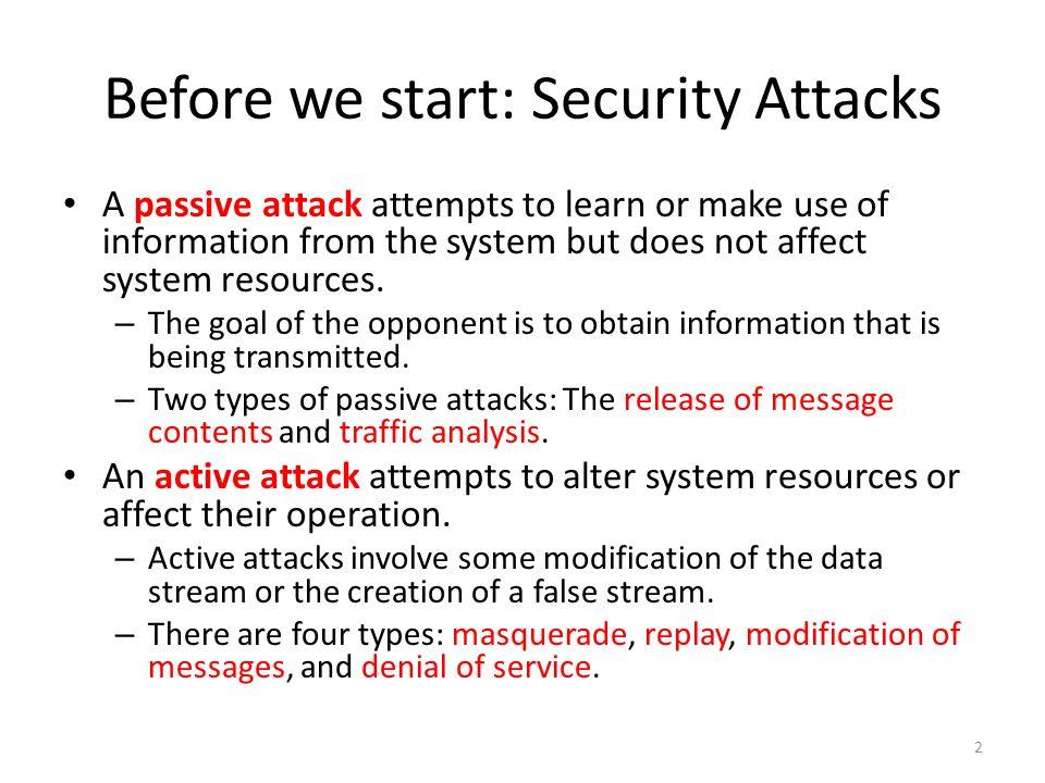 Before we start: Passive Attacks 3