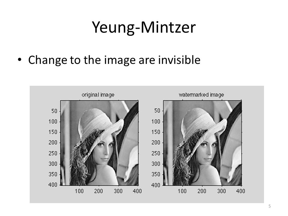 Yeung-Mintzer Change to the image are invisible 5