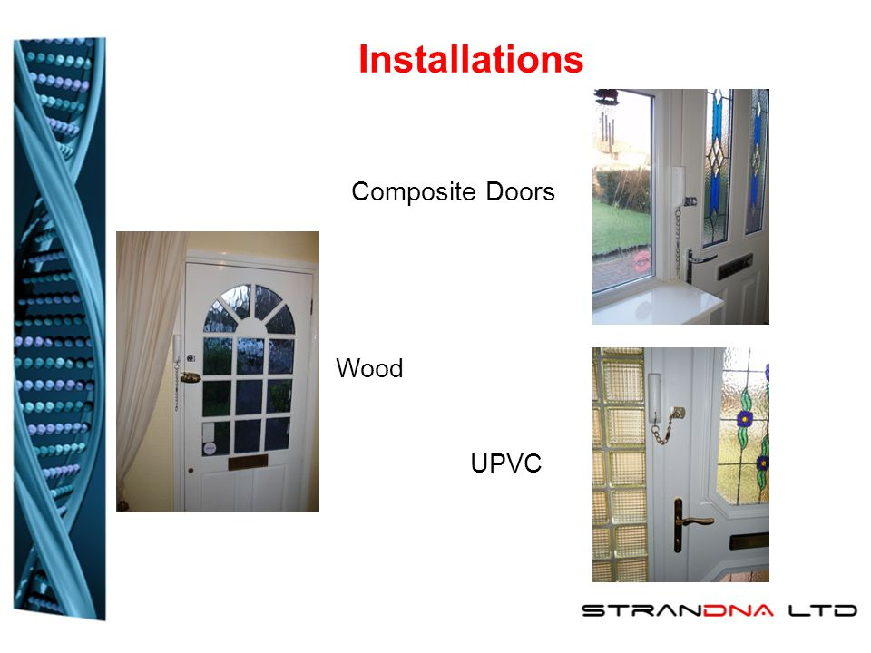 Installations Composite Doors Wood UPVC