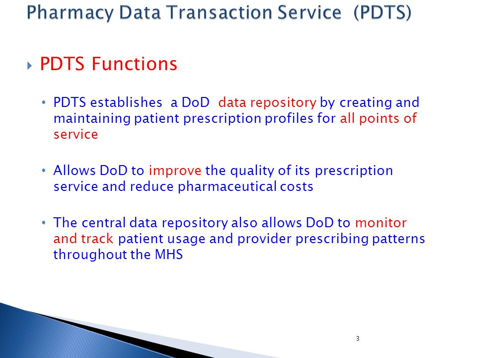 4 How PDTS works with CHCS How does the quantity & package size work together in PDTS.