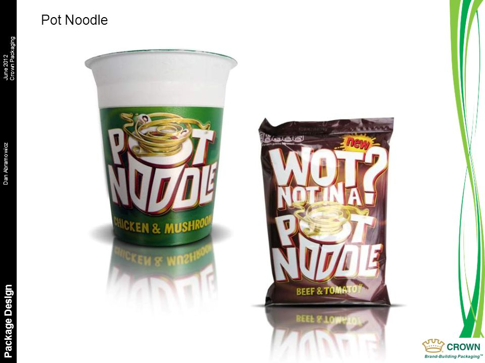 Dan AbramowiczJune 2012 Crown Packaging Package Design Pot Noodle