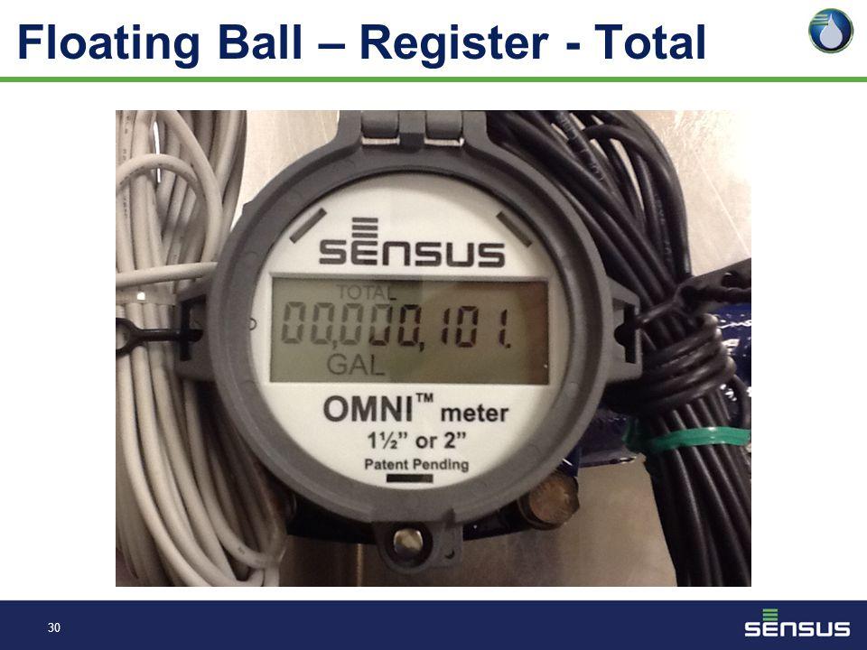 29 Floating Ball – Register - AMR