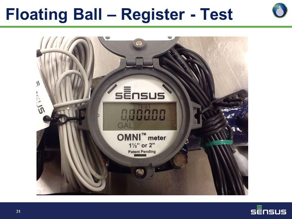 30 Floating Ball – Register - Total