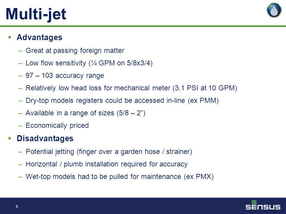 8 Brands Precision PMM – discontinued March 31, 2012 Precision PMX - discontinued MasterMeter Multi-Jet