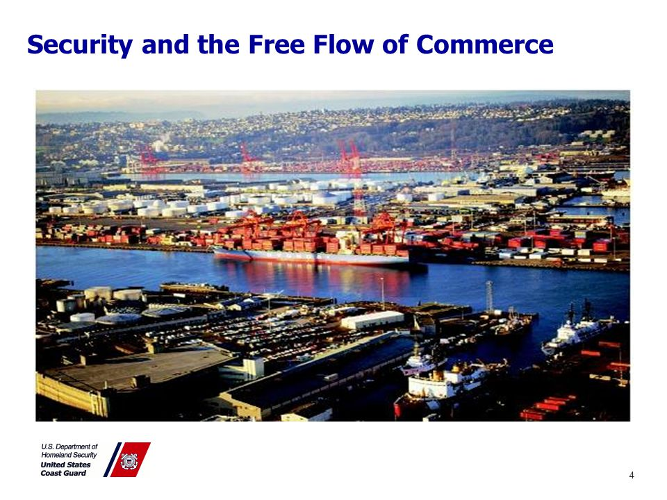 Security and the Free Flow of Commerce Preventing Transportation Security Incidents (TSI) –Loss of life –Environmental Damage –Transportation System Disruption –Economic Disruption to a particular area 4