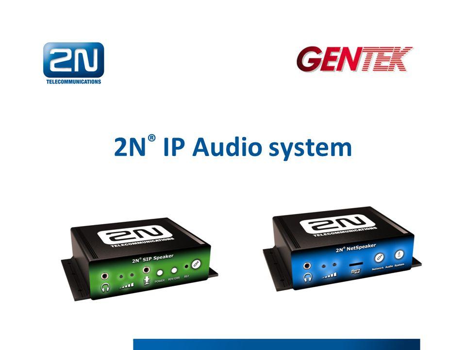 2N ® IP Audio system