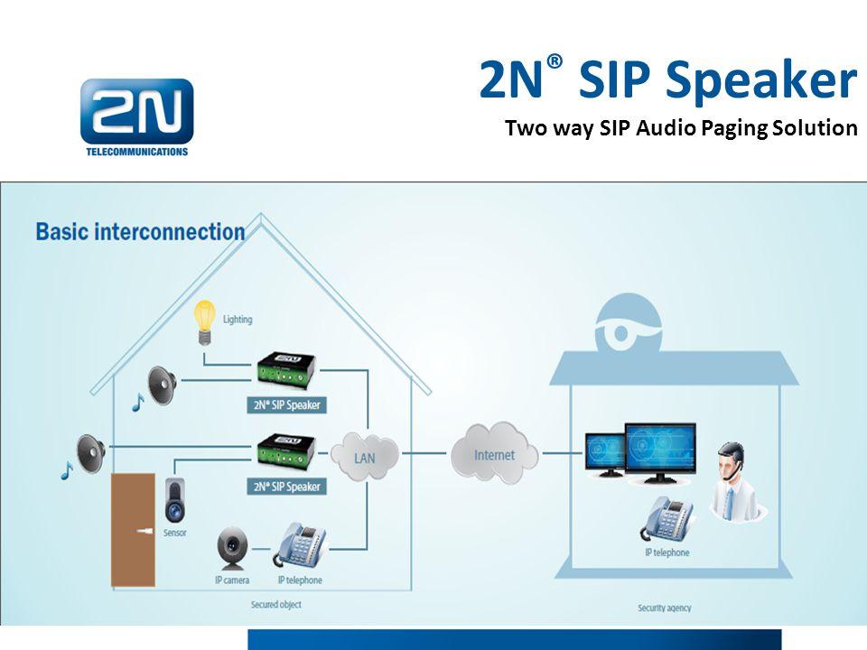 2N ® SIP Speaker Two way SIP Audio Paging Solution