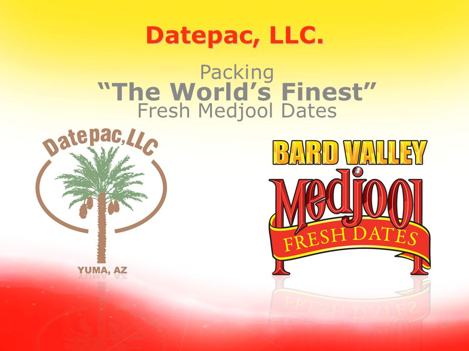 2 BARD VALLEY MEDJOOL DATES Our Growers Are the Owners World Class Medjool Date Only Growers ◦Date growing is their only business ◦Founded in 1996 by a group of Bard growers.